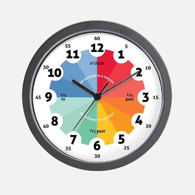 Teaching Wall Clock