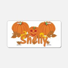 Halloween Pumpkin Shelly Aluminum License Plate