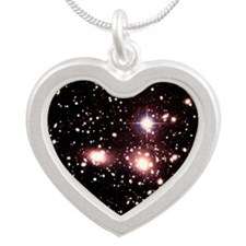 Optical image of galaxies in Silver Heart Necklace
