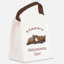 Groundhog Day Kiss Canvas Lunch Bag