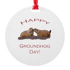 Groundhog Day Kiss Ornament