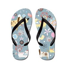 Dogs and Cats Flip Flops