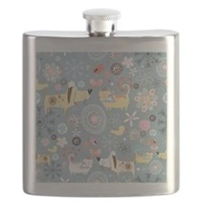Dogs and Cats Flask