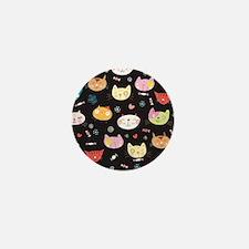 Crazy Cat Faces Mini Button