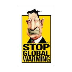 Stop Global Warming -- Rectangle Decal