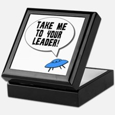 Take Me To Your Leader Keepsake Box