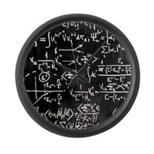 Particle physics equations Large Wall Clock