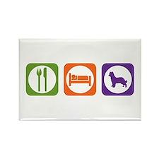 Eat Sleep Shepherd Rectangle Magnet
