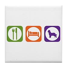 Eat Sleep Shepherd Tile Coaster