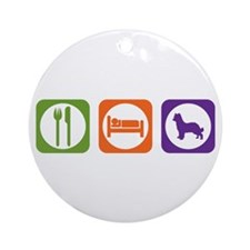 Eat Sleep Shepherd Ornament (Round)