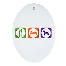 Eat Sleep Shepherd Oval Ornament