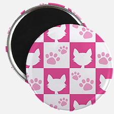 Cat Pawprint Pattern Magnet