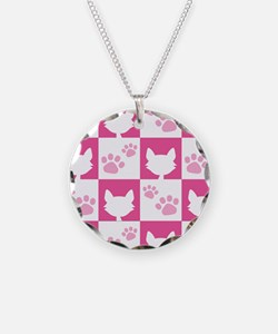 Cat Pawprint Pattern Necklace