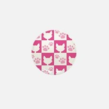 Cat Pawprint Pattern Mini Button