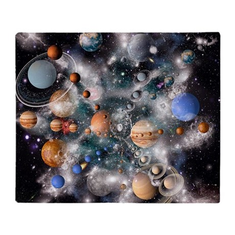 Solar system planets throw blanket by admin cp66866535 for Solar system fleece