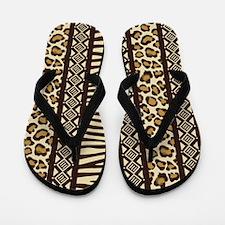 African Print Flip Flops