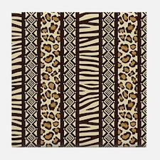 African Print Tile Coaster