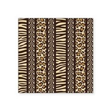 "African Print Square Sticker 3"" x 3"""