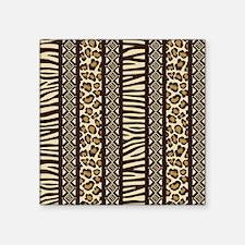 "African Print Square Sticker 3"" x 3"""
