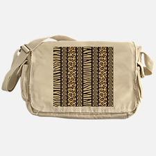 African Print Messenger Bag