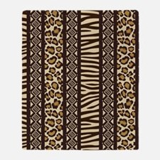 African Print Throw Blanket