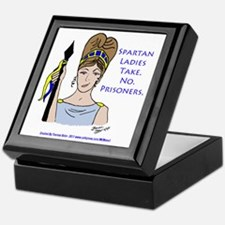 Spartan Ladies Take No Prisoners! Keepsake Box