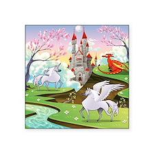 """Fairy Tale Square Sticker 3"""" x 3"""""""