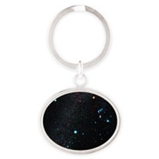 Orion constellation Oval Keychain