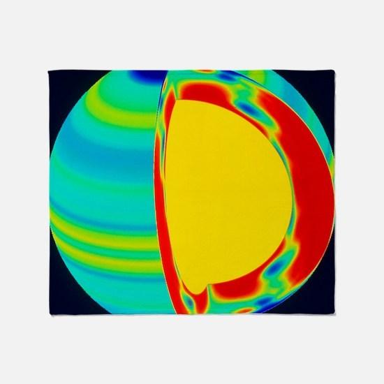SOHO image of solar (Sun) rotation r Throw Blanket
