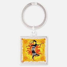 Tribal Dancer Square Keychain