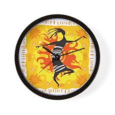 Tribal Dancer Wall Clock