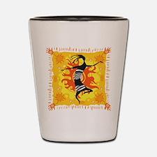 Tribal Dancer Shot Glass