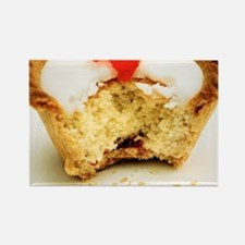 Tart with cherry Rectangle Magnet