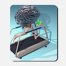 Running brain, conceptual artwork Mousepad