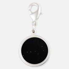 The Plough in Ursa Major, opti Silver Round Charm