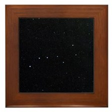 The Plough in Ursa Major, optical imag Framed Tile