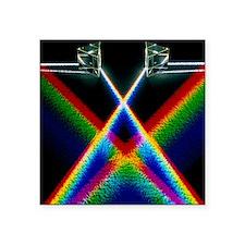 "Light through prisms Square Sticker 3"" x 3"""