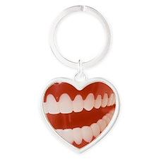 Toy teeth Heart Keychain