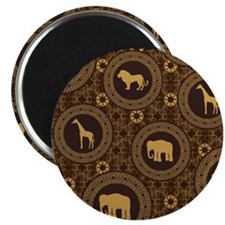 African Animal Pattern Magnet
