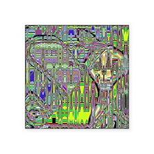 "Gumby Loves Gidget B SB Square Sticker 3"" x 3"""