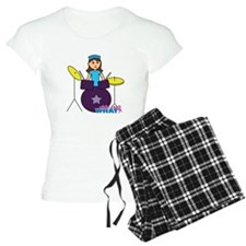 Drummer Girl Purple and Blue Pajamas