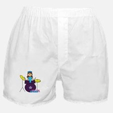 Drummer Girl Purple and Blue Boxer Shorts