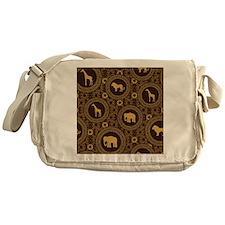 African Animal Pattern Messenger Bag