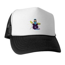 Drummer Girl Purple and Blue Trucker Hat