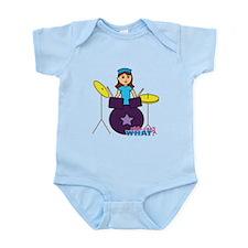 Drummer Girl Purple and Blue Infant Bodysuit