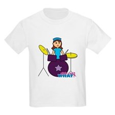 Drummer Girl Purple and Blue T-Shirt