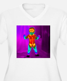 Thermogram of a b T-Shirt