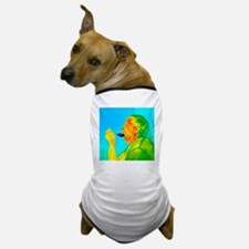Thermogram of a woman eating ice cream Dog T-Shirt