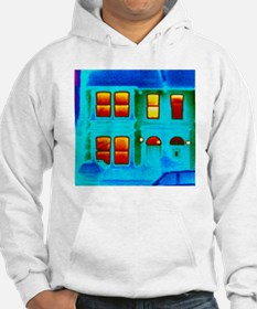 Thermogram showing heat loss fro Hoodie