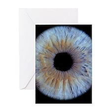 The iris of the eye Greeting Card
